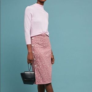 NEW Current Air Buttoned Leopard Pencil Skirt